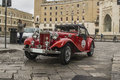 Mg topdown cruiser td roadster lecce old vintage classic car spider red Royalty Free Stock Photos