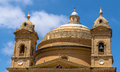Mgarr church dome of the in the republic of malta Royalty Free Stock Images