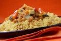 Mięśni ryż sauce warzywa Fotografia Royalty Free