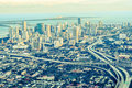 Miami aerial view city downtown Royalty Free Stock Photos