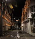 Miami alley way night Vice City Royalty Free Stock Photo