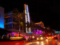 Miami Art Deco Breakwater Royalty Free Stock Photo