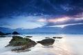 Miami beach at dawn Royalty Free Stock Photo