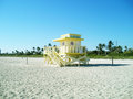 Miami beach en hiver Photos libres de droits