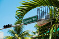 Miami beach espanola way street sign located in Stock Photography