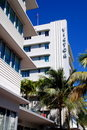 Miami Beach, FL: Art Deco Victor Hotel Stock Photos