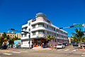 Miami beach florida art deco architecture in south beach is one of the main tourist attractions in miami usa august midday view at Stock Photography