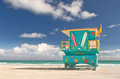 Miami Beach Florida, lifeguard house Stock Photos
