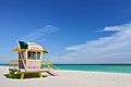 Miami beach Florida lifeguard house Royalty Free Stock Photos