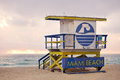 Miami Beach Florida, lifeguard house Royalty Free Stock Images