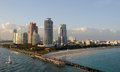 Miami beach florida southwernmost area seen from the ocean Stock Image