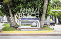 Miami beach welcome sign florida Royalty Free Stock Photos