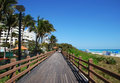 Miami Boardwalk Stock Photo