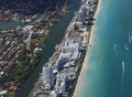 Miami coastline seen from high altitude Stock Photography