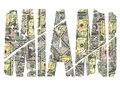 Miami dollars grunge text Royalty Free Stock Photo