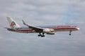 Miami floryda marzec american airlines boeing z rejestracją n an zbliża się miami lotnisko w floryda american airlines działa Obraz Royalty Free