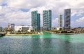 Miami harbor on a sunny day Stock Photo