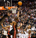 Miami Heat vs. Toronto Raptors Royalty Free Stock Photos