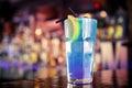 Miami ice tea on the bar beach iced Stock Images