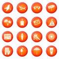 Miami icons vector set
