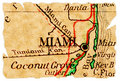 Miami old map Royalty Free Stock Photos