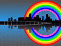 Miami with rainbow Stock Photography