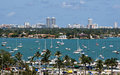 Miami Sailboats Royalty Free Stock Photo