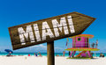 Miami sign on the beach Royalty Free Stock Photo