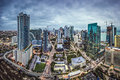 Miami skyline florida usa downtown aerial cityscape Royalty Free Stock Image