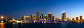 Miami skyline panorama Royalty Free Stock Photo