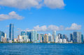 Miami skyline viewed from Biscayne Bay Florida
