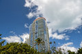 Miami south beach high residential buildings, hotel or houses Royalty Free Stock Photo