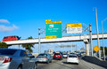 Miami traffic driving to Miami beach Florida Royalty Free Stock Photo