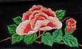 Miao embroidery peony Royalty Free Stock Photo