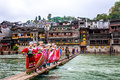 Miao nationality woman in fenghuang old town ,hunan ,china Stock Photo