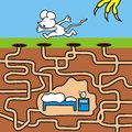 Mice maze game for kids find your way to the lair Royalty Free Stock Photography