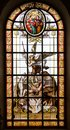 Stained glass window of church Royalty Free Stock Photo