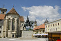 Michael the brave statue in alba iulia old fortress city during his reign which coincided with long war these three Royalty Free Stock Image
