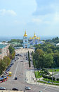 Michael cathedral kiev ukraine jul s on july in the monastery is located on the right side of the dnieper river Stock Photography