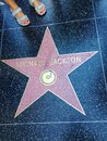 Michael Jackson Hollywood walk of fame star. Royalty Free Stock Photo