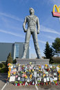 Michael Jackson statue in Best, Netherlands Royalty Free Stock Image