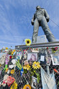 Michael Jackson statue in Best, Netherlands Royalty Free Stock Photo