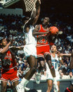Michael jordan chicago bulls legend image taken from color slide Royalty Free Stock Photos