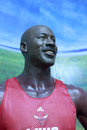 Michael jordan s wax figure in gulangyu island Royalty Free Stock Image