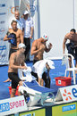 Michael Phelps, Alain Bernard, Open edf 2010 Royalty Free Stock Photo