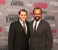 Michael stuhlbarg and jeffrey wright actors who play the roles of arnold rothstein dr valentin narcisse respectively arrive on Stock Image