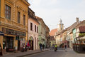 Michael weiss street in the historical center of brasov city near to council square romania Stock Photography
