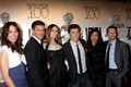 Michaela Conlin,TJ Thyne,David Boreanaz,Emily Deschanel,John Francis Daley,Tamara Taylor Royalty Free Stock Photos