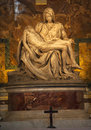 Michaelangelo Pieta Sculpture Vatican Rome Italy Royalty Free Stock Photo