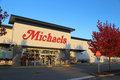 Michaels store a sign on the front of one of their retail locations in coquitlam bc canada photo taken on october Royalty Free Stock Photos